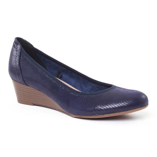 Escarpins Tamaris 22320 Navy, vue principale de la chaussure femme