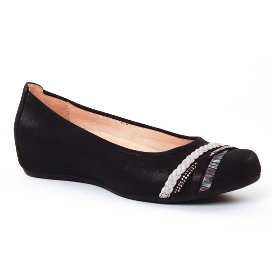 Ballerines Fugitive Ramiro Metal Noir, vue principale de la chaussure femme