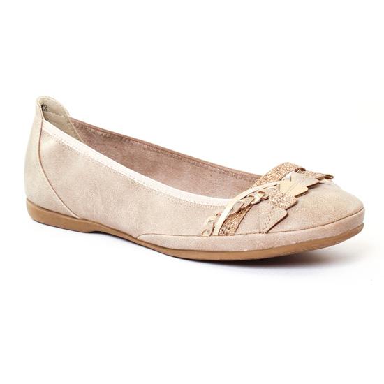 Ballerines Marco Tozzi 22126 Dune, vue principale de la chaussure femme