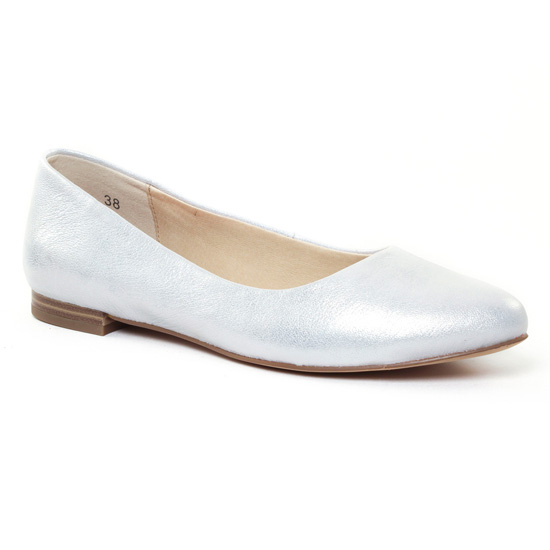 Ballerines Caprice 22107 Silver, vue principale de la chaussure femme