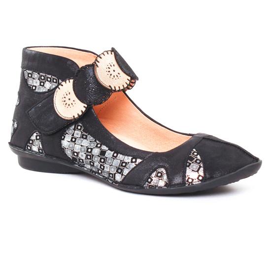 Ballerines Fugitive Uchea B Noir, vue principale de la chaussure femme