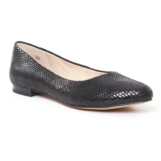 Ballerines Caprice 22107 Noir, vue principale de la chaussure femme