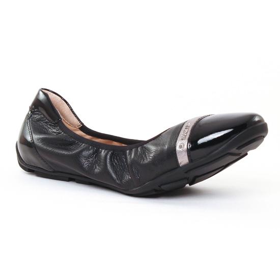 Ballerines Jb Martin 3 Omaley Noir Argent, vue principale de la chaussure femme