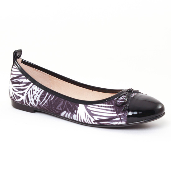 Ballerines Jb Martin Olsen Vernis Noir, vue principale de la chaussure femme
