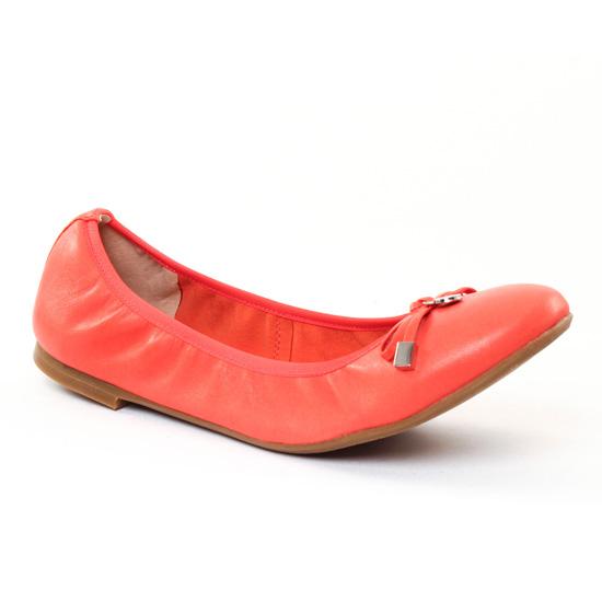 Ballerines Jb Martin Oreane Rouge, vue principale de la chaussure femme