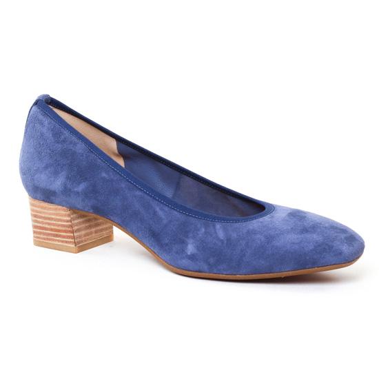 64de9fd57 Perlato 9692 Jeans | ballerine talon bleu printemps été chez TROIS PAR 3