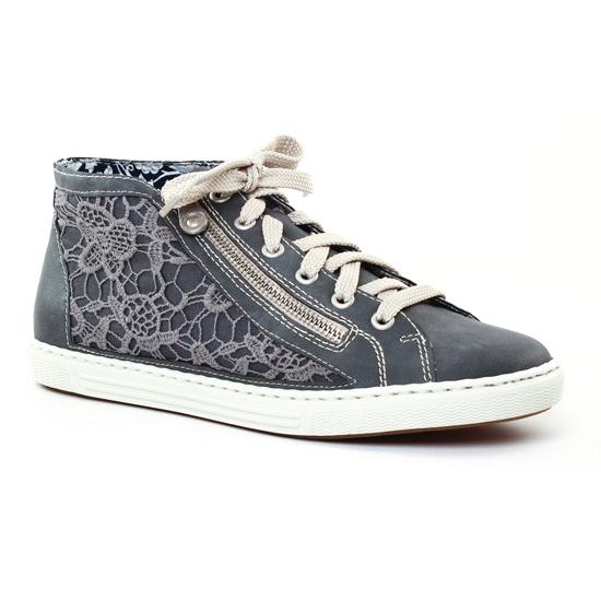 Tennis Et Baskets Mode Rieker L0912 Jeans, vue principale de la chaussure femme