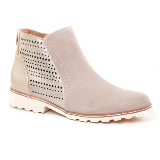 Bottines Et Boots Fugitive Watou Beige, vue principale de la chaussure femme