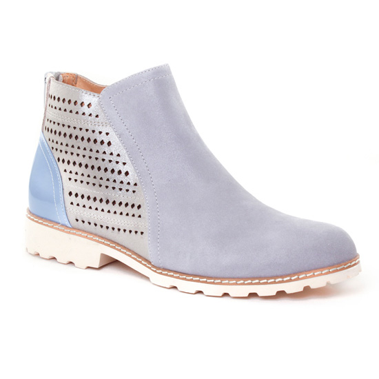Bottines Et Boots Fugitive Watou Gris, vue principale de la chaussure femme