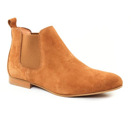 Bottines Et Boots Scarlatine 6444 Camel, vue principale de la chaussure femme