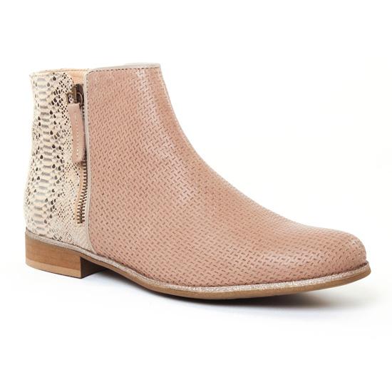 Bottines Et Boots Pintodiblu 76953 Beige, vue principale de la chaussure femme