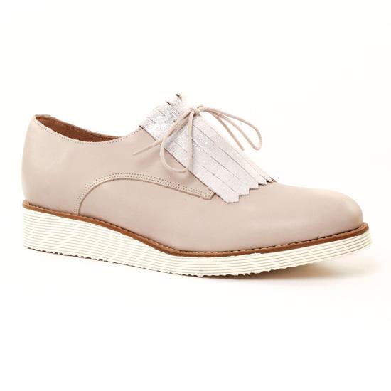 Chaussures À Lacets Scarlatine 22000 beige argent, vue principale de la chaussure femme
