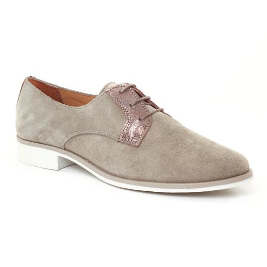 Chaussures À Lacets Scarlatine 7574 Taupe, vue principale de la chaussure femme