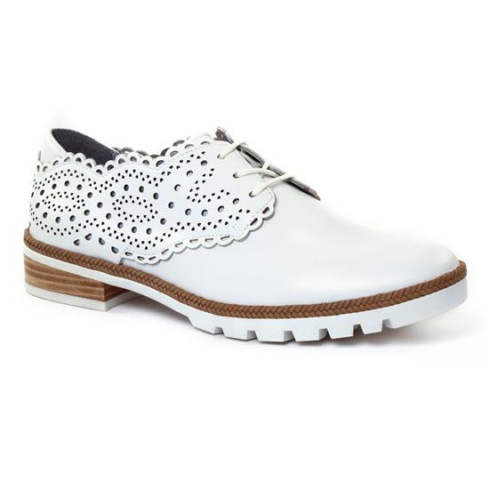 Chaussures À Lacets Mamzelle Yoni Blanc, vue principale de la chaussure femme