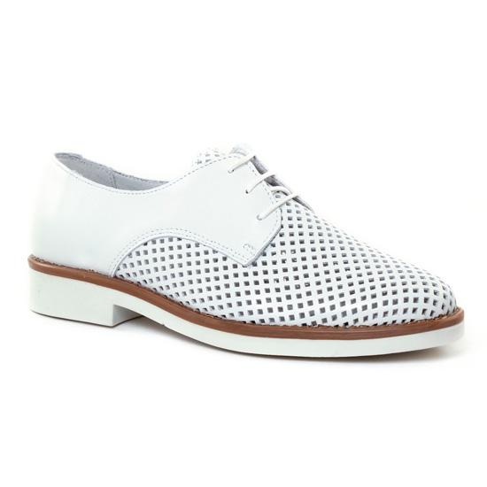 Chaussures À Lacets Scarlatine 7541 Blanc, vue principale de la chaussure femme