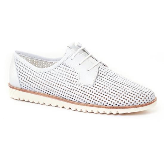 Chaussures À Lacets Tamaris 23603 White, vue principale de la chaussure femme