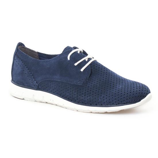 Chaussures À Lacets Marco Tozzi 23728 Navy, vue principale de la chaussure femme