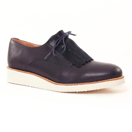 Chaussures À Lacets Scarlatine 22000 Marine, vue principale de la chaussure femme