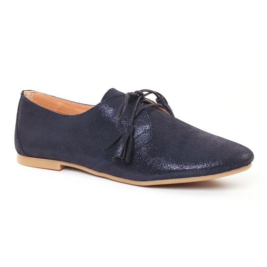 Chaussures À Lacets Scarlatine 7583 Navy, vue principale de la chaussure femme