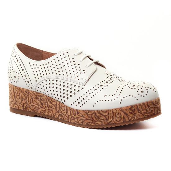 Chaussures À Lacets Mamzelle Ralima Ecru, vue principale de la chaussure femme