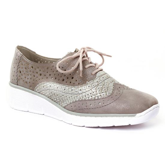 Chaussures À Lacets Rieker 53726 Altgold, vue principale de la chaussure femme