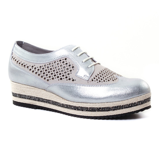 Chaussures À Lacets Mamzelle Remo Grey, vue principale de la chaussure femme