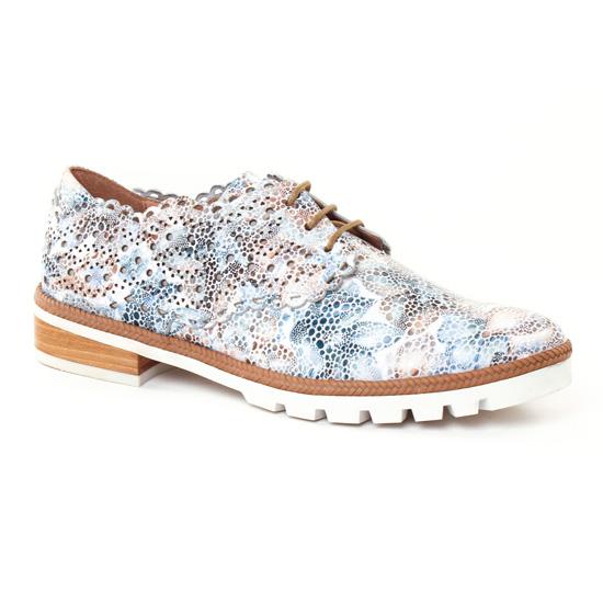 Chaussures À Lacets Mamzelle Yoni Flower Ecru, vue principale de la chaussure femme