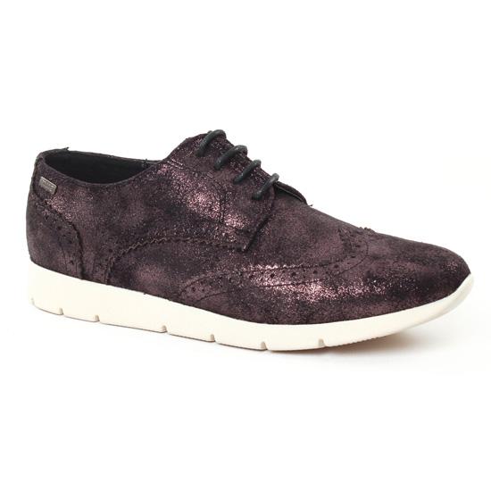 Chaussures À Lacets Mtng 50820 Noir, vue principale de la chaussure femme