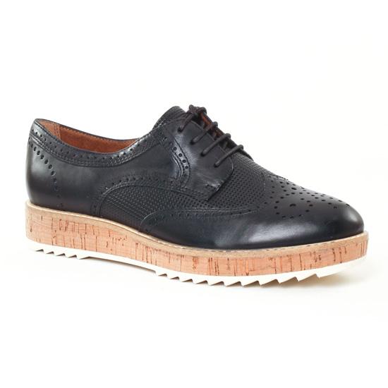 Chaussures À Lacets Tamaris 23706 Black, vue principale de la chaussure femme