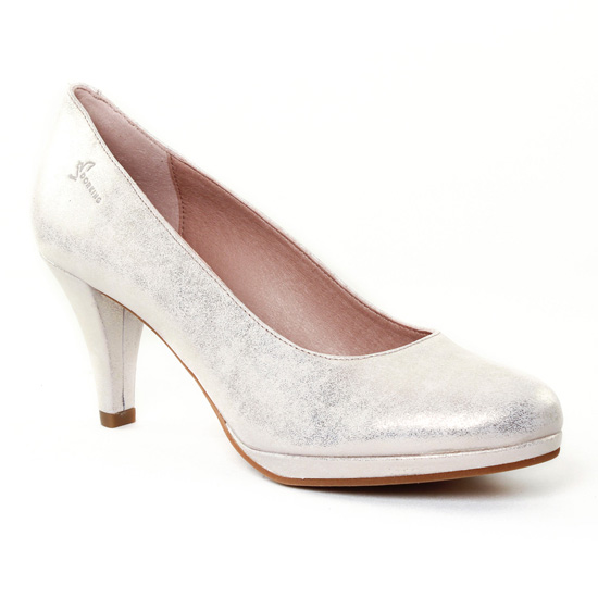 Escarpins Dorking 7118 Azahra Platine, vue principale de la chaussure femme
