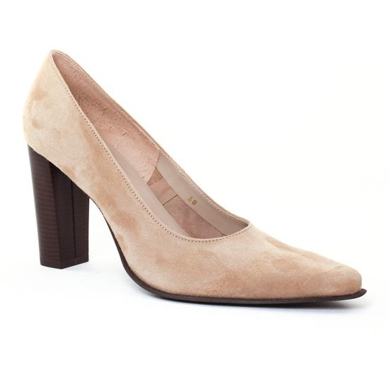 Escarpins Scarlatine Belgy Taupe, vue principale de la chaussure femme