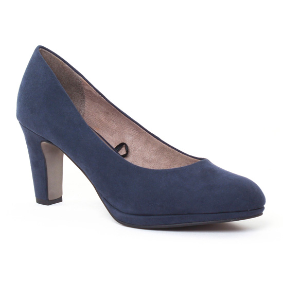 Escarpins Tamaris 22420 Navy, vue principale de la chaussure femme