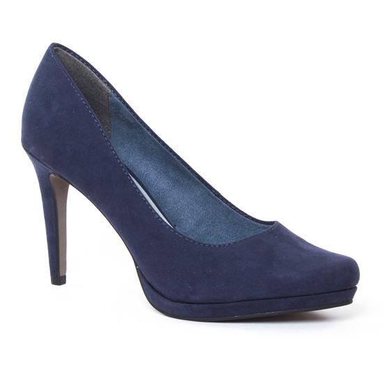 Escarpins Tamaris 22446 Navy, vue principale de la chaussure femme