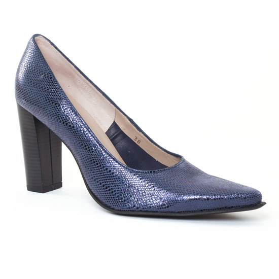 Escarpins Scarlatine Belgy Bleu, vue principale de la chaussure femme