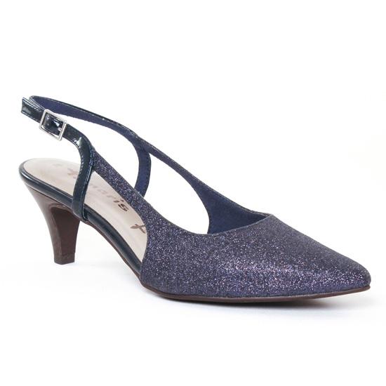 73e04724798d24 Escarpins Tamaris 29601 Navy, vue principale de la chaussure femme. escarpins  brides bleu marine ...