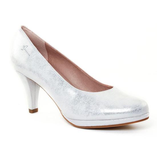 Escarpins Dorking 7118 Azahra Argent, vue principale de la chaussure femme