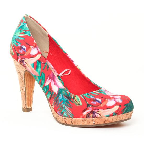 Escarpins Marco Tozzi 22421 Chili Flower, vue principale de la chaussure femme