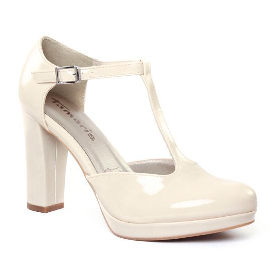 Escarpins Tamaris 24409 Cream, vue principale de la chaussure femme