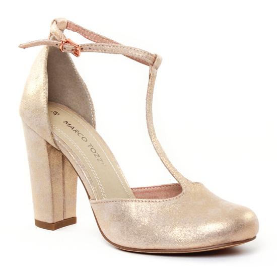Escarpins Marco Tozzi 24413 Rose Metal, vue principale de la chaussure femme