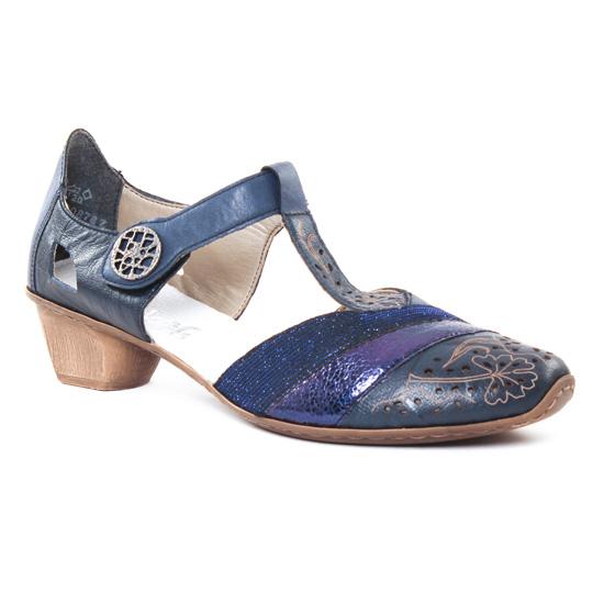 Escarpins Rieker 49751 Royal, vue principale de la chaussure femme