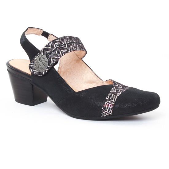 Babies Fugitive Eroles Metal Noir, vue principale de la chaussure femme