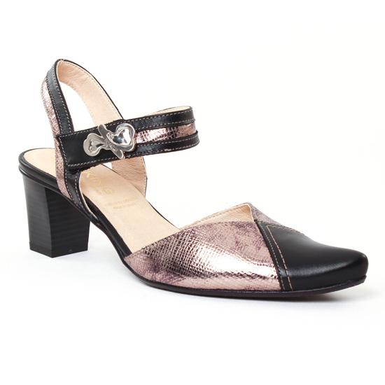 Nu Pieds Et Sandales Dorking Delta 6997 Noir Or, vue principale de la chaussure femme