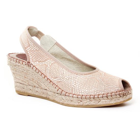 Espadrilles Aedo 7 Salmon, vue principale de la chaussure femme