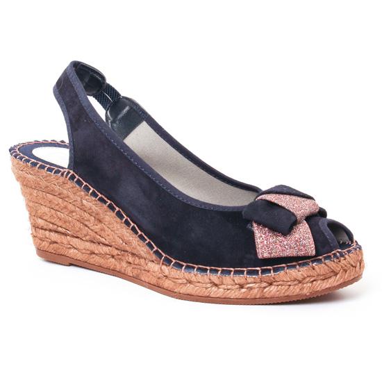 Espadrilles Aedo 1669 Marine, vue principale de la chaussure femme