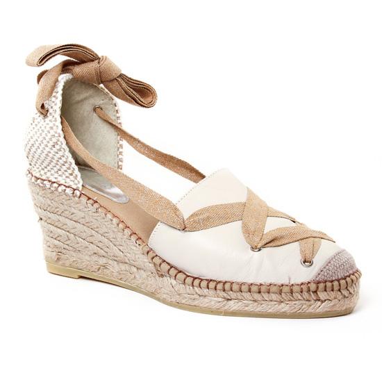 Espadrilles Aedo 2068 Crudo, vue principale de la chaussure femme