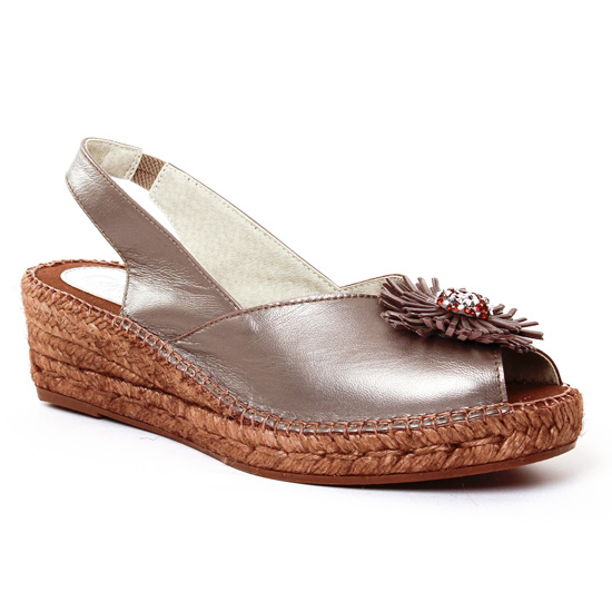 Espadrilles Aedo 2020 Platine, vue principale de la chaussure femme