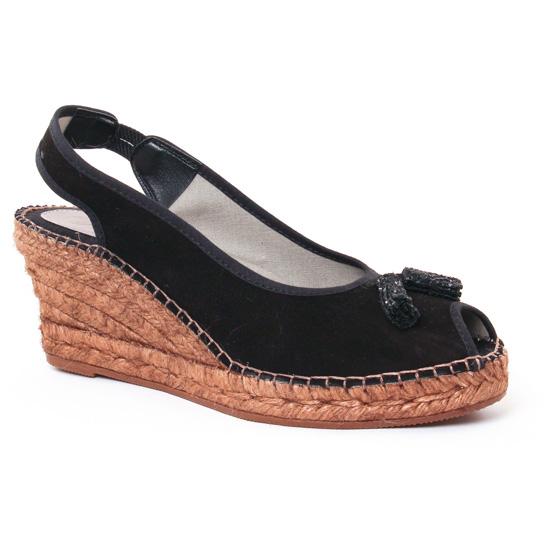 Espadrilles Aedo 2088 Noir, vue principale de la chaussure femme