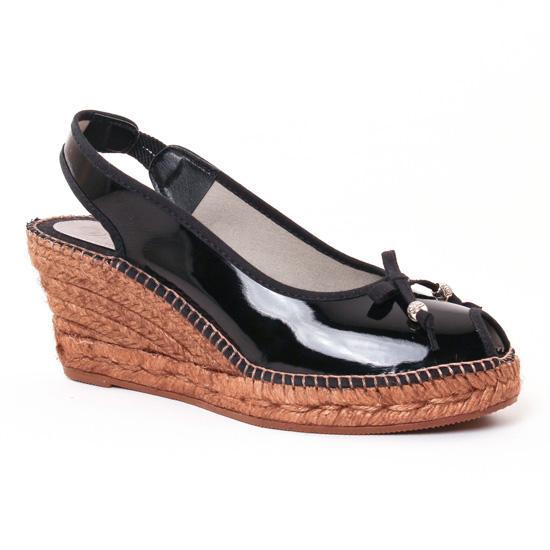 Espadrilles Aedo 0302 Vernis Noir, vue principale de la chaussure femme