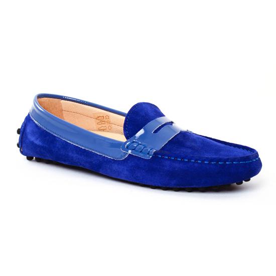 Mocassins Christian Pellet Tabata Bleu Jeans, vue principale de la chaussure femme