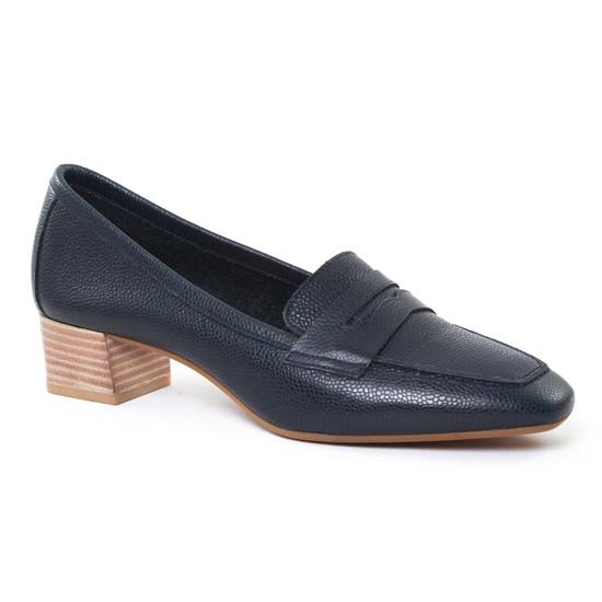 Mocassins Perlato 9691 Marine, vue principale de la chaussure femme